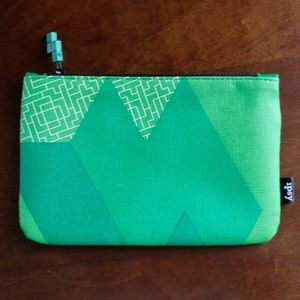 Ipsy Tetris Makeup Bag - Green